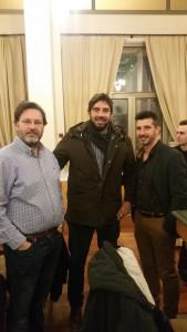 Ο Γ.Αποστολόπουλος, ο αθλητής Ξ.Ντούρος και ο Α.Στεφανάτος